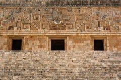 Mayan contruction detail Stock Photo