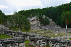 Mayan culture pyramid history mexico yucatan Xtampu Stock Photography