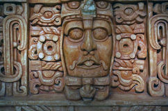 Mayan death mask Merida Mexico Stock Photo