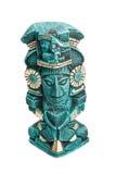Mayan deity standbeeld van geïsoleerdg Mexico Royalty-vrije Stock Fotografie