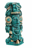 Mayan deity statue from Mexico isolated Stock Photo