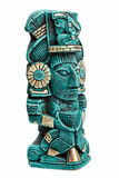 Mayan deity statue from Mexico isolated Royalty Free Stock Images