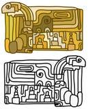 Mayan Design Tablet Royalty Free Stock Photos