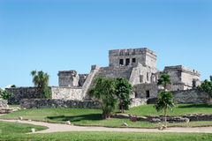 Mayan El Castillo, Tulum, Mexico Royalty Free Stock Photo
