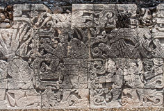 Mayan Engravings Chichen Itza Mexico Royalty Free Stock Images