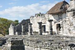 Mayan fördärvar på Tulum i Mexico Royaltyfri Fotografi