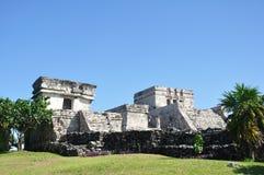 Mayan fördärvar på Tulum i Mexico Royaltyfri Foto