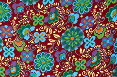 Mayan Floral Pattern Background Royalty Free Stock Photo