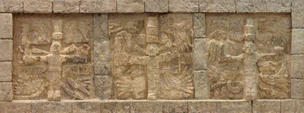 Mayan frieze stock photography