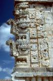 Mayan frieze, Uxmal Stock Photo
