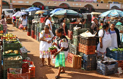 Mayan Fruit Market, Yucatan, Mexico. Fruit market in Oxcutzcab, a traditional mayan town in Yucatan, Mexico Stock Photography