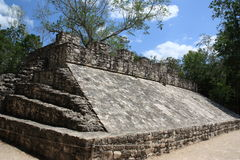 Mayan game field in Coba royalty free stock photo
