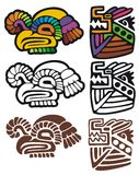 Mayan glyphs Royalty Free Stock Images