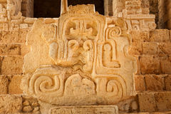 Mayan glyphs at the Acropolis Royalty Free Stock Photo
