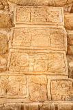 Mayan glyphs at the Acropolis Royalty Free Stock Photos