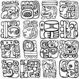 Mayan Glyphs Royalty Free Stock Photo