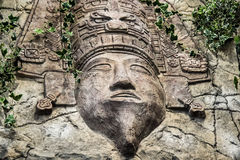 Mayan God carved Stock Images