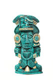 Mayan god statue from Mexico isolated Stock Photos