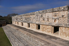 Mayan Gouverneurs` s Paleis - Uxmal, Mexico royalty-vrije stock fotografie