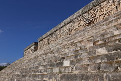 Mayan Gouverneurs` s Paleis - Uxmal, Mexico stock afbeelding