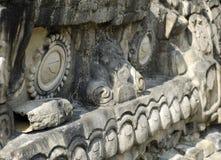 Mayan Gravure Royalty-vrije Stock Afbeeldingen