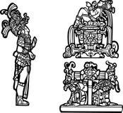 Mayan Group C. Black and white mayan spot image group Royalty Free Stock Photos