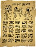 Mayan hieroglyphs Stock Photos