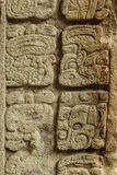 Mayan hieroglyphs, Copan, Honduras. Mayan hieroglyphs in the ruins of Copan, an archaeological site in Honduras and a UNESCO World Heritage Site. Located at the stock photography