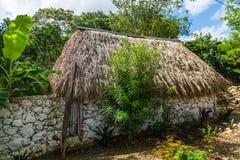 Mayan Home in Mexico Stock Photos