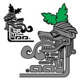 Mayan idol. Illustration of mayan idol, can be used as a border Royalty Free Stock Photography