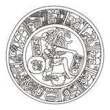 mayan illustration Arkivfoton