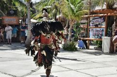 Mayan Indian Dancer In Costa Maya Mexico @ 2 stock image