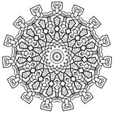 Mayan Inspired Mandala. Ornamental round mandala. Geometric circle element made in . Perfect for any other kind of design, birthday and other holiday Stock Photo