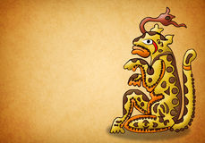 Mayan jaguardeity - balam - voorspelling royalty-vrije illustratie