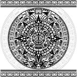 Mayan kalender Arkivbilder