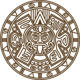 Mayan kalender royalty-vrije illustratie