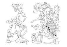 Mayan Kalender - beeld van de Codex van Dresden stock illustratie