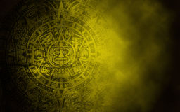 Mayan kalender på gammal stentextur Royaltyfri Fotografi