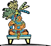 Mayan King #2. Mayan King designed after Mesoamerican Pottery and Temple Images Stock Images