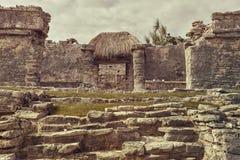 Mayan Kolommen royalty-vrije stock fotografie