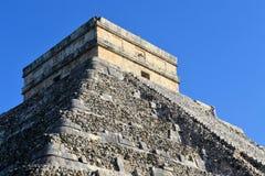 Mayan Kukulcan El Castillo, Chichen Itza, Mexico Arkivbilder