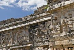 Mayan kunstwerk in ruïnes Stock Foto's