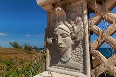Mayan kvinna Arkivbild