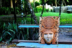 Mayan mask. Part of the history and traditions of mexico Stock Image