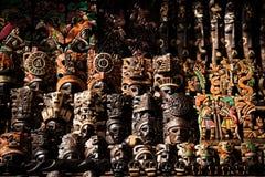 Mayan Mask. Set of mayan mask in yucatan, mexico Royalty Free Stock Photography