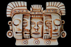 Mayan masks artifact stock image