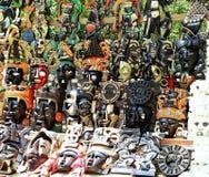 Mayan masks. Assorted Mayan masks Royalty Free Stock Photos