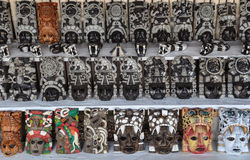 Mayan Masks for Sale Royalty Free Stock Photography