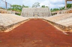 Mayan matchdomstol Arkivbild
