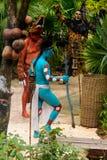 Mayan mensen in Mexico Stock Foto's